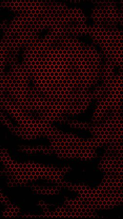 Honeycomb on a red background. Perspective view on polygon look like honeycomb. Isometric geometry. 3D illustration Stock fotó