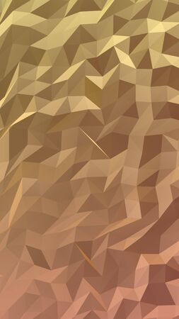 Abstract triangle geometrical orange background. Geometric origami style with gradient. 3D illustration Stok Fotoğraf
