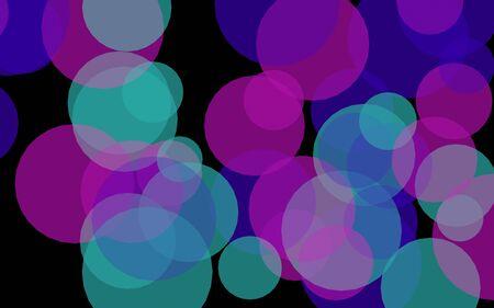 Multicolored translucent circles on a dark background. Pink tones. 3D illustration Reklamní fotografie