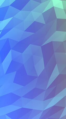 Abstract triangle geometrical blue background. Geometric origami style with gradient. 3D illustration Stok Fotoğraf