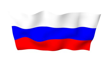 Waving flag of the Russian Federation. The National. State symbol of the Russia. 3D illustration Stock fotó