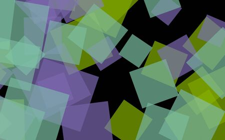 Multicolored translucent squares on dark background. 3D illustration Archivio Fotografico - 132247211