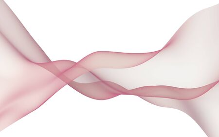Abstract wave. Scarf. Bright ribbon on white background. Abstract smoke. Raster air background. 3D illustration Stockfoto