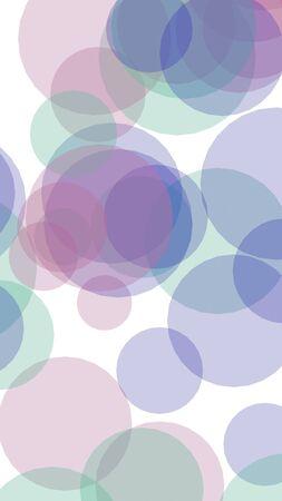 Multicolored translucent circles on a white background. Pink tones. 3D illustration 版權商用圖片