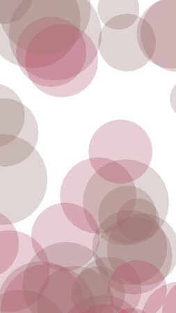 Multicolored translucent circles on a white background. 3D illustration