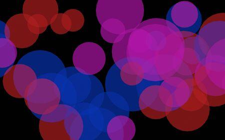 Multicolored translucent circles on a dark background. Red tones. 3D illustration 版權商用圖片