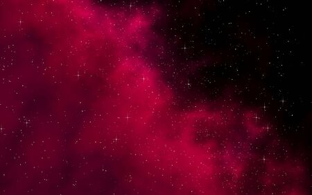 Colorful and beautiful space background. Outer space. Starry outer space texture. Templates, red background. 3D illustration Фото со стока