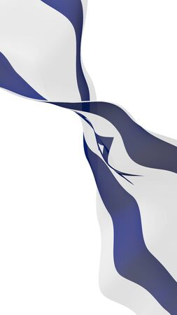 The flag of Israel. State symbol of the State of Israel. A blue Star of David between two horizontal blue stripes on a white field. 3d illustration Stok Fotoğraf