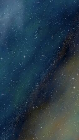 Colorful and beautiful space background. Outer space. Starry outer space texture. 3D illustration Фото со стока