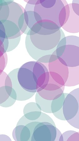 Multicolored translucent circles on a white background. Pink tones. 3D illustration Stok Fotoğraf