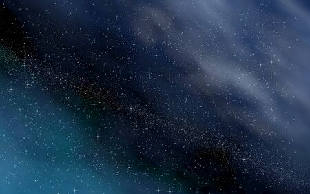 Colorful and beautiful space background. Outer space. Starry outer space texture. 3D illustration Stok Fotoğraf