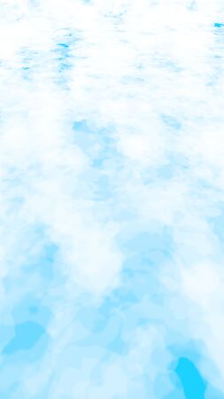 The bright sky in the morning. Blue sky background with white clouds. Cumulus white clouds in the clear blue sky. 3D illustration Imagens