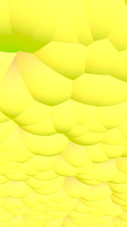 3d rendering picture of yellow balls. Abstract wallpaper and background. 3D illustration