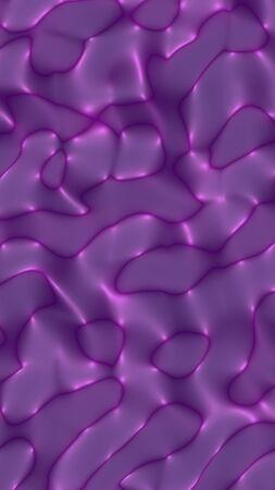 Graphic illustration - liquid pattern dark purple color. Modern abstract background. Design wallpaper. 3D illustration