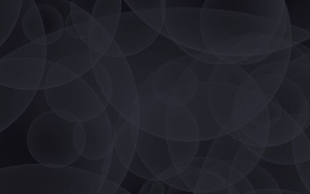 Abstract black background. Backdrop with dark transparent bubbles. 3D illustration