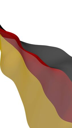 Flag of Germany. Wide format 3D illustration. State symbol of the Federal Republic of Germany. 3D rendering