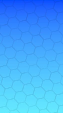 Translucent honeycomb on a gradient blue sky background. Perspective view on polygon look like honeycomb. Isometric geometry. 3D illustration
