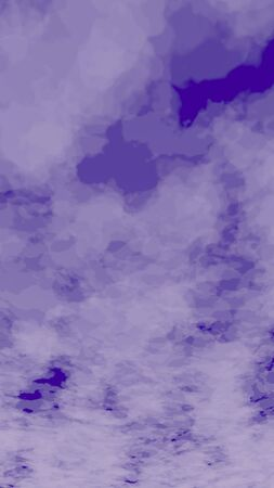 Background of abstract purple color smoke. The wall of purple fog. 3D illustration Фото со стока