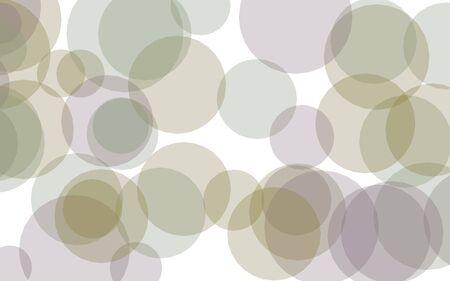 Multicolored translucent circles on a white background. Yellow tones. 3D illustration Standard-Bild