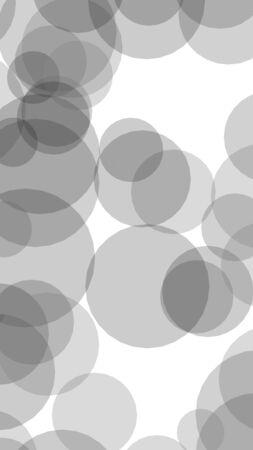 Translucent circles on a white background. 3D illustration