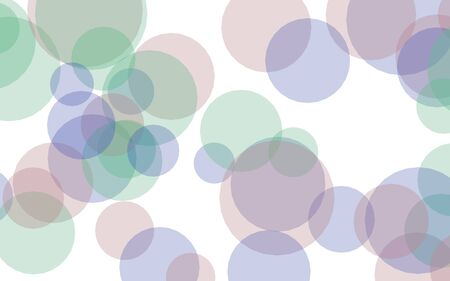 Multicolored translucent circles on a white background. Pink tones. 3D illustration Zdjęcie Seryjne