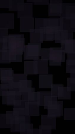 Black abstract background. Backdrop with grey squares. Vertical orientation. 3D illustration
