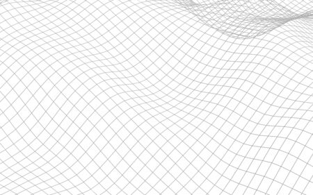 Abstract landscape on a white background. Cyberspace grid. hi tech network. 3d illustration