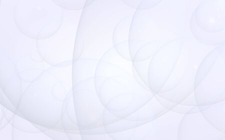 Abstract white background. Backdrop with light transparent bubbles. 3D illustration