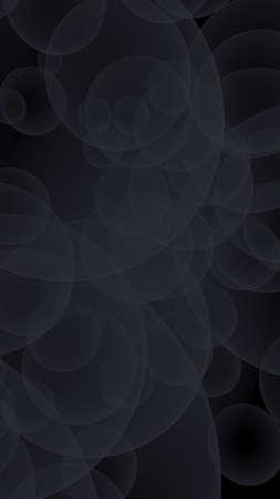 Abstract black background. Backdrop with dark transparent bubbles. Vertical orientation. 3D illustration Stok Fotoğraf