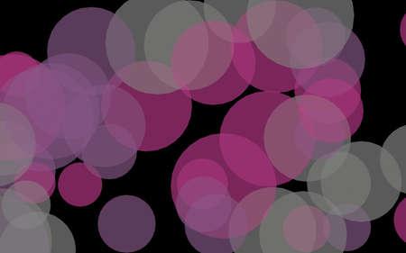 Multicolored translucent circles on a dark background. Pink tones. 3D illustration Stok Fotoğraf