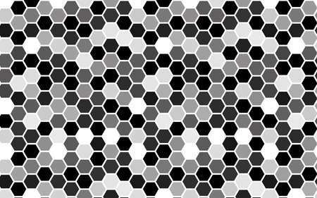White honeycomb with a gradient color. Isometric geometry. 3D illustration Imagens