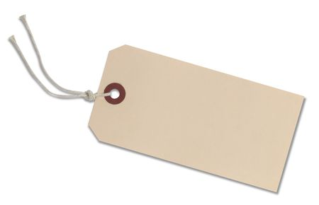 label: Blank Tag Stock Photo