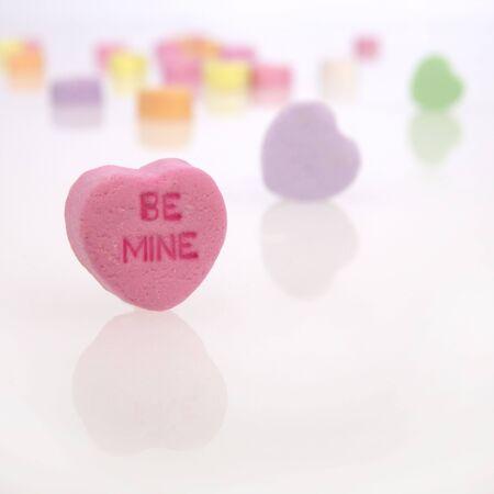Conversatie Candy Hearts Stockfoto