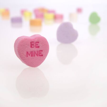 Conversation Candy Hearts Stock Photo - 4139456