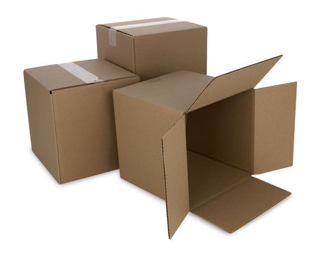 Cardboard boxes  스톡 콘텐츠