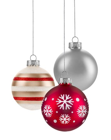 christmas baubles: Christmas baubles Group isolated on a white background