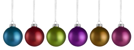 Christmas Balls isolated on a white background 스톡 콘텐츠