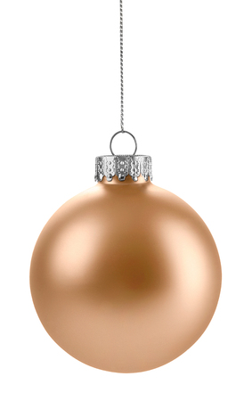 Gold Christmas Ball isolated on a white background Standard-Bild