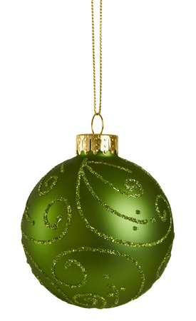 saturated color: Green Christmas Ball