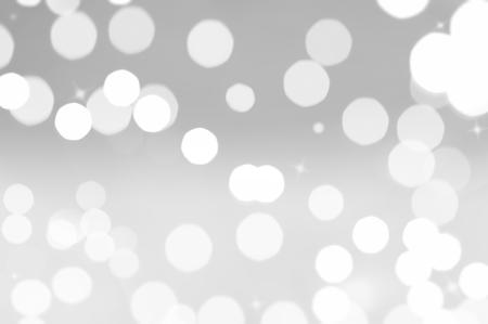 クリスマス ライトの背景の白い円形ボケ味 写真素材