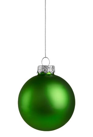 Green Christmas Ball isolated on a white background Standard-Bild