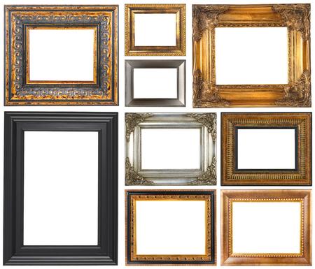 Antieke frames geïsoleerd op een witte achtergrond Stockfoto - 48444871