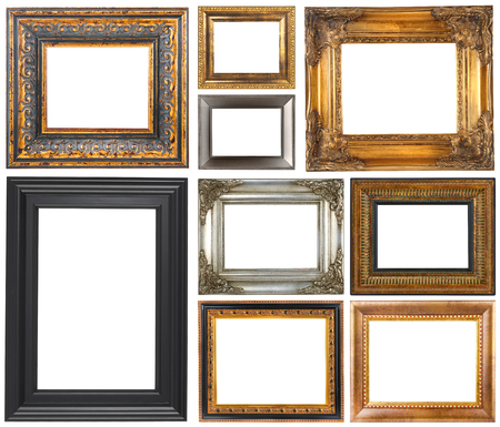 Antique frames isolated on a white background