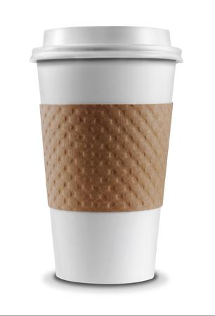 filizanka kawy: Filiżanka kawy na białym tle