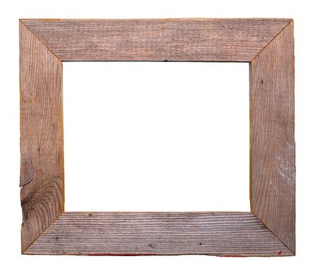 古い納屋の木製フレームを白い背景に分離したか。 写真素材