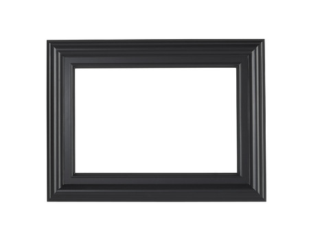 A black picture frame isolated on a white background?