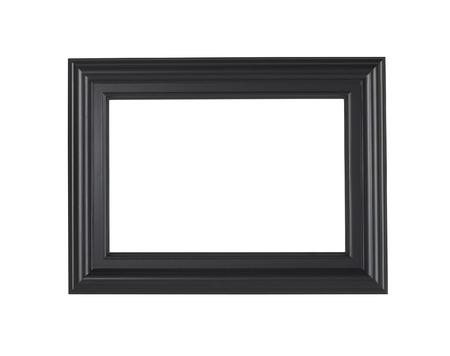 Een zwart fotolijst geïsoleerd op een witte achtergrond?