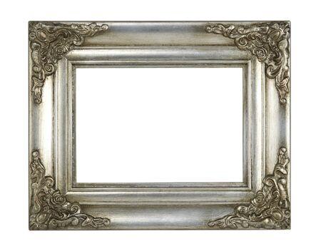 白い背景に分離した銀のフレーム