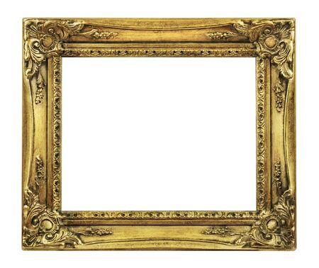 Retrostil Old Gold Bilderrahmen auf einem weißen Hintergrund? ?