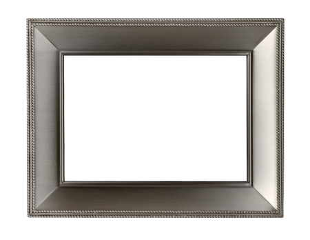 銀のフレームが白い背景で隔離